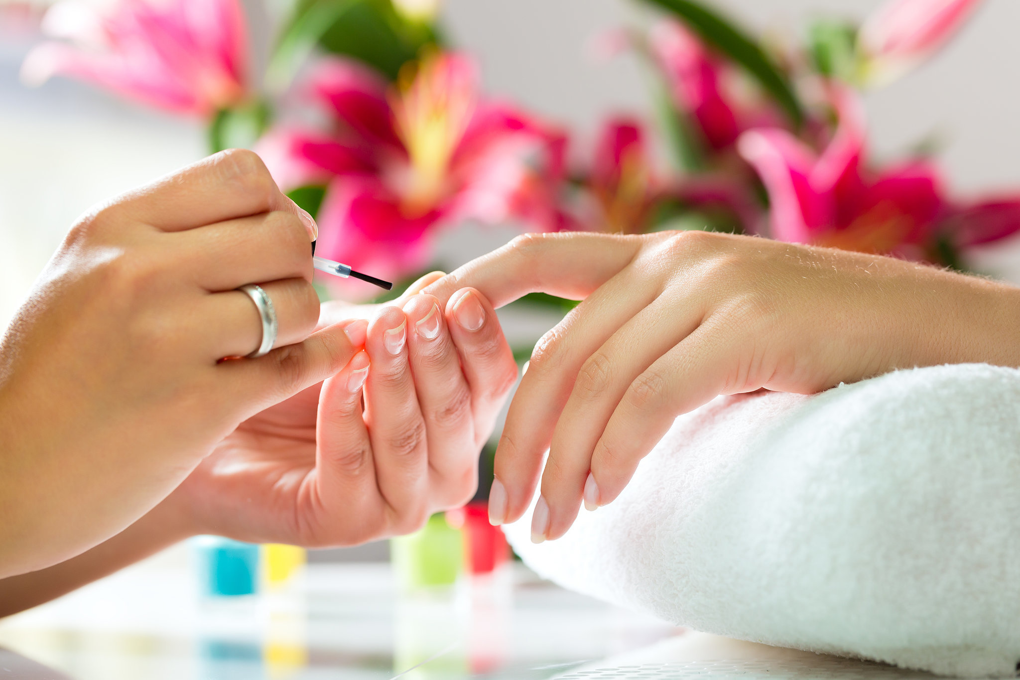 manicures are a healthy service to give to yourself